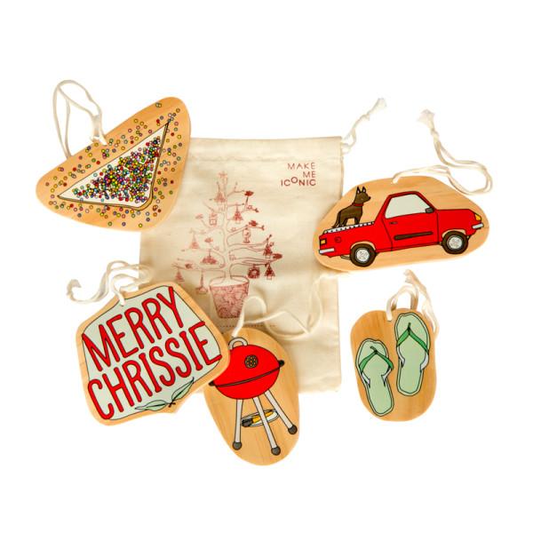 Australian Christmas Decorations Images.Iconic Aussie Christmas Decorations Set Of 5
