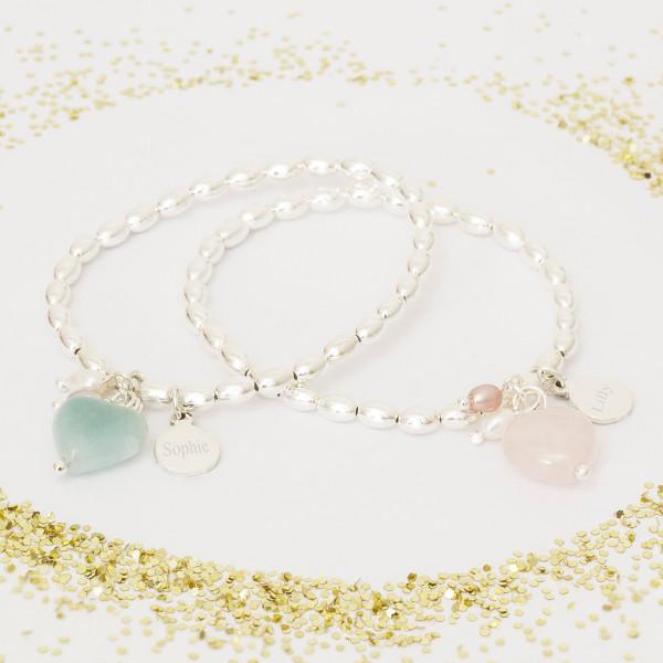 b9233140e8 Avea Children's Personalised Heart Bracelet | hardtofind.