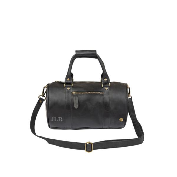 Leather mini duffle bag - leather across body handbag in black ... 598c82c037ff5