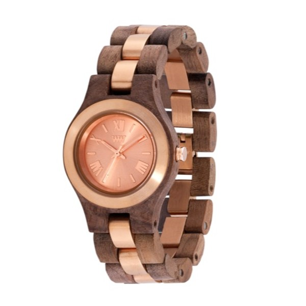 WeWood Criss ME Nut Rough Rose Wood Watch  c5bf08a521b
