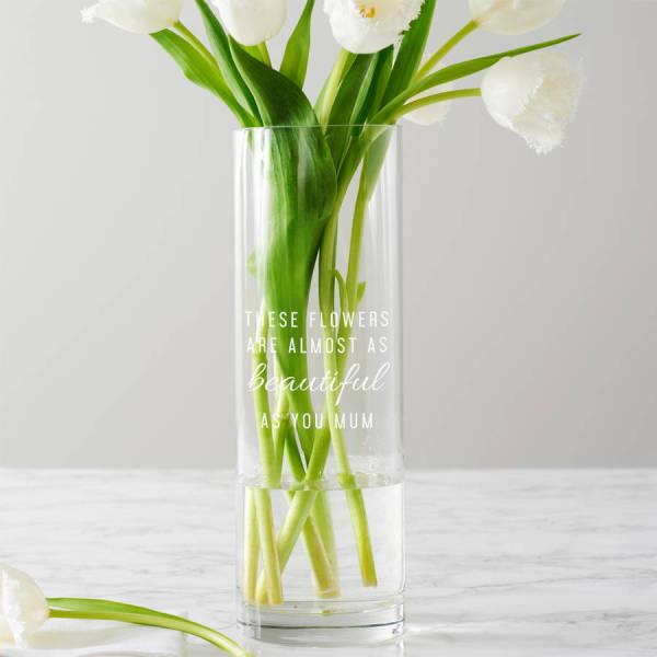 ba0eb76f827 Personalised These Flowers  8230  Vase
