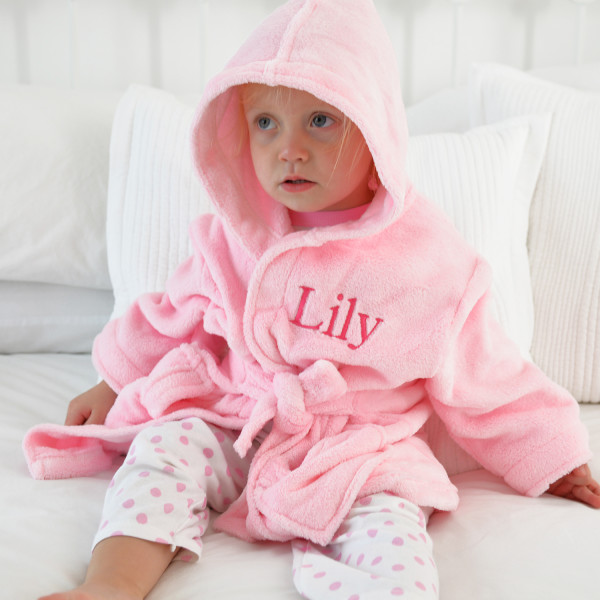 6eace275e174a Personalised Soft Baby/Child's Dressing Gown In Pink | hardtofind.