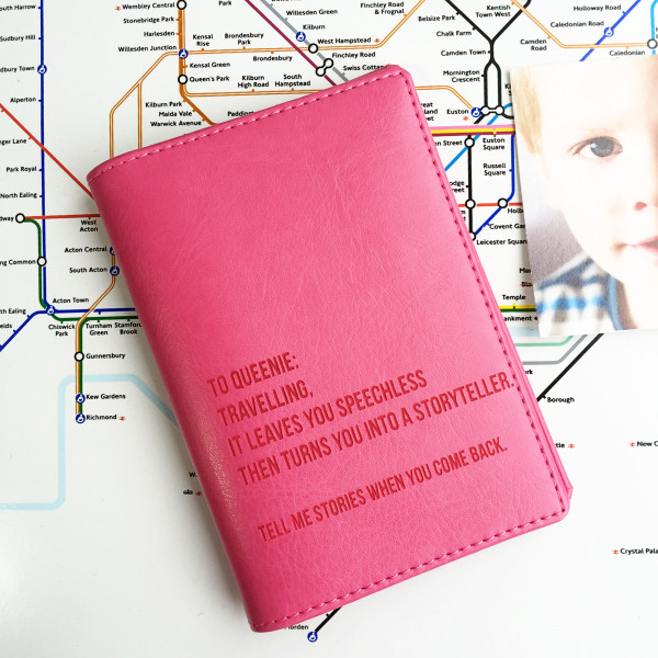 5743ed289 World Destinations Personalised Passport Holder