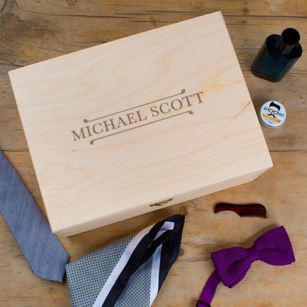 b4e7a29b2c Men s Personalised Wooden Accessory   Jewellery Box