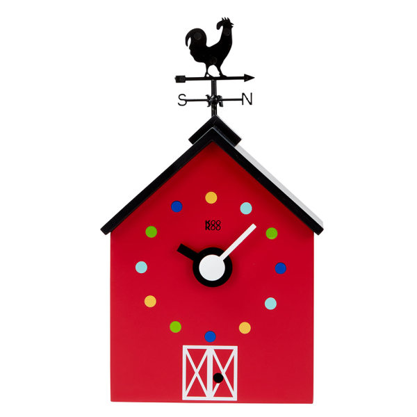 Red Barn Kids Wall Clock With Animal Sounds Hardtofind