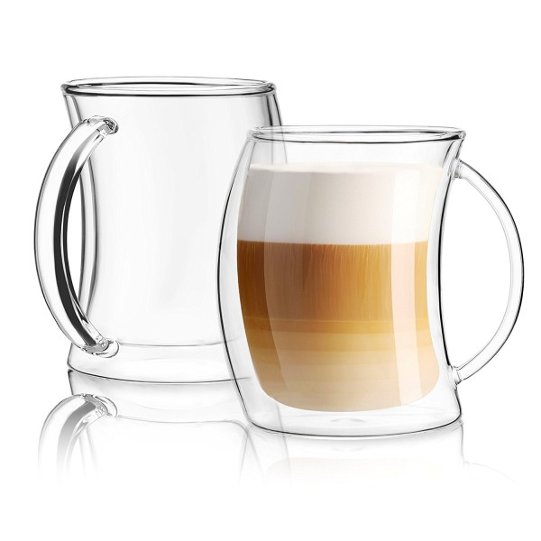Caleo Double Wall Insulated Latte Coffee Glasses Set Of 2 Hardtofind