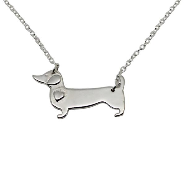 Sausage Dog Sterling Silver Necklace
