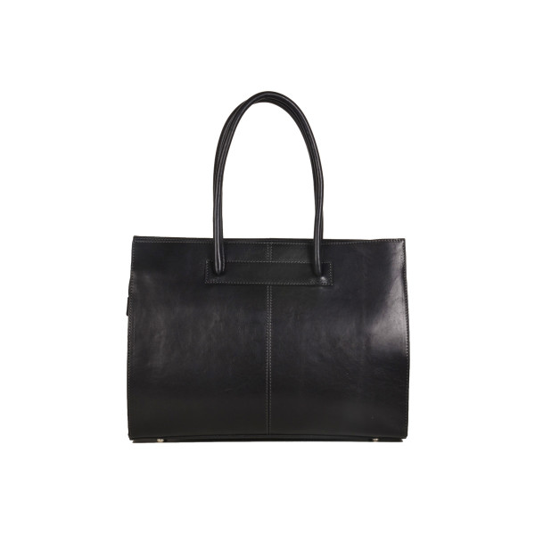 646da9cfebf Florence black leather work bag for women