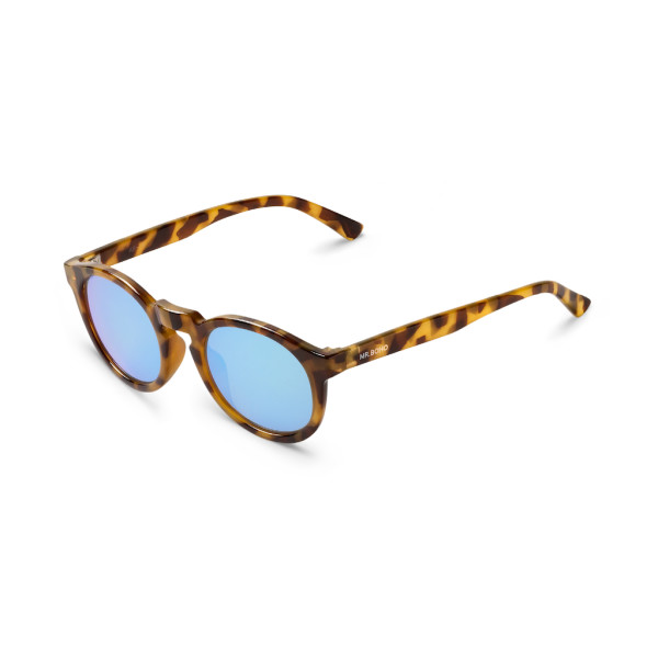 fa2105e2210 Mr Boho Jordaan High-Contrast Tortoise Sunglasses - Sky Blue Lens ...