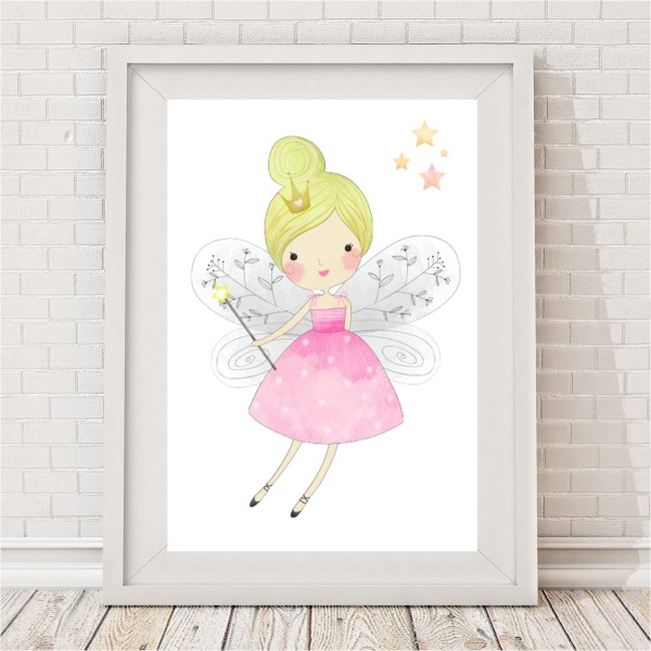 Pretty Pastel Fairy Print