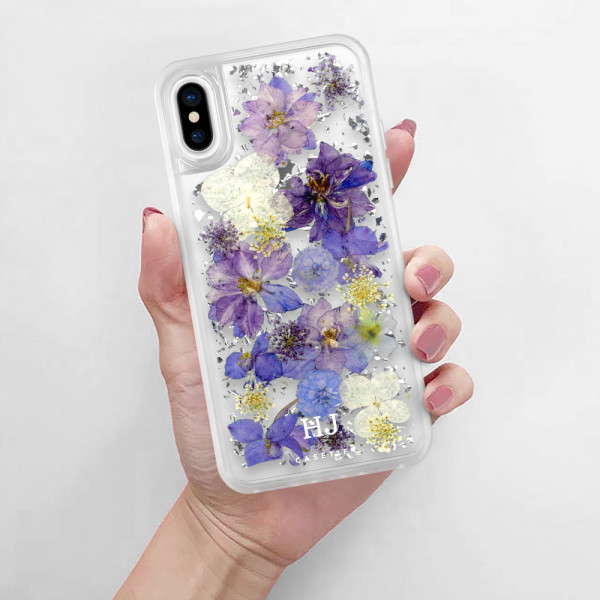 release date: 361e5 3dd0b Personalised Luxe Pressed Flower iPhone Case - Lavender