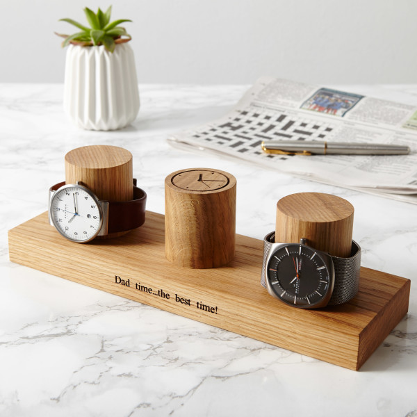 159eb11a07e Personalised Solid Oak Watch Stand (3