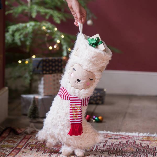 Llama Christmas.Personalised Llama Christmas Stocking
