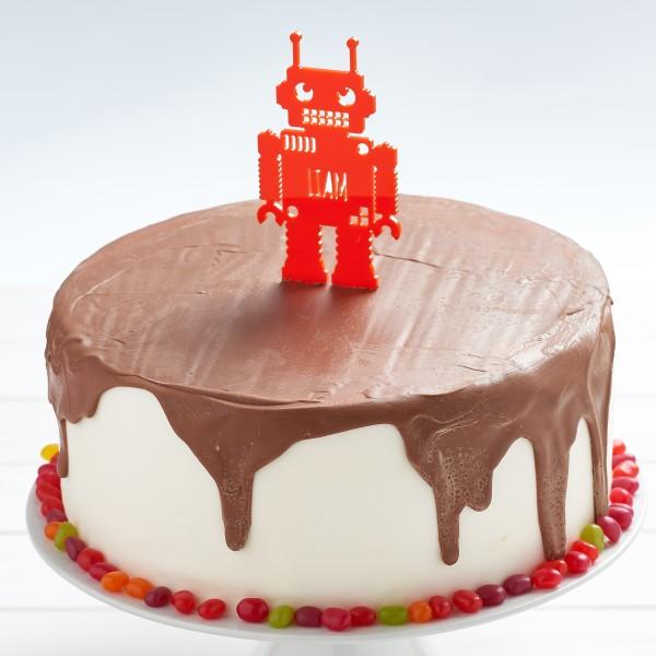 Strange Personalised Robot Birthday Cake Topper Hardtofind Funny Birthday Cards Online Alyptdamsfinfo