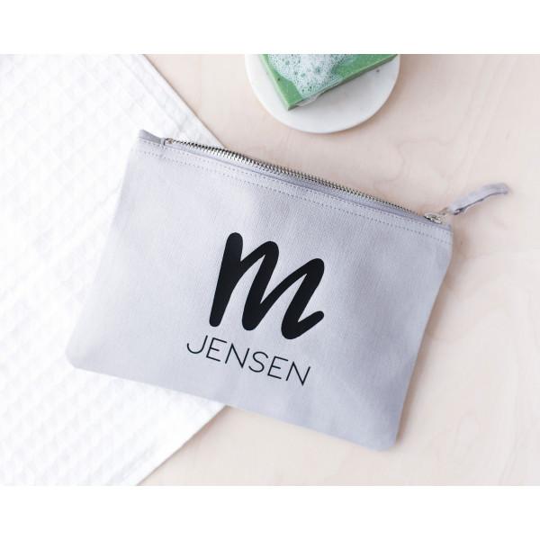 268ce46c5f Personalised Mens Grey Wash Bag