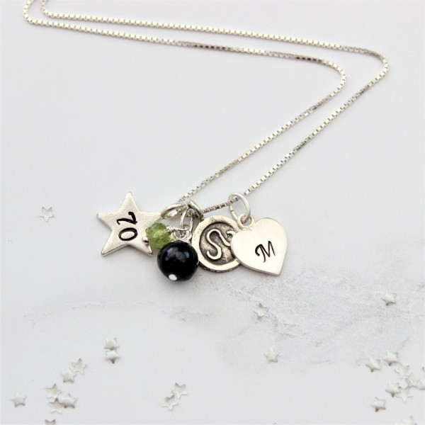 70th Birthday Necklace With Peridot For August