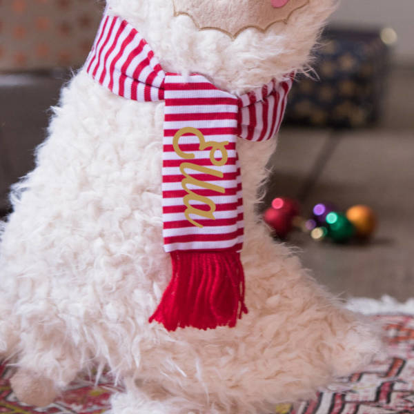 Llama Christmas Stocking.Personalised Llama Christmas Stocking