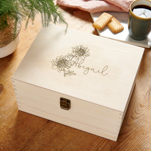 Birth Flower Keepsake Box | Beanstalk Mums