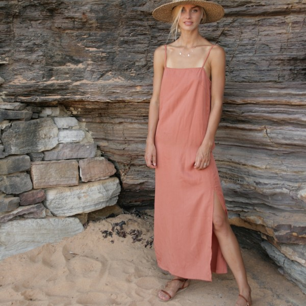 5ab9b3755e04 Aurora tencel everyday slip dress | hardtofind.