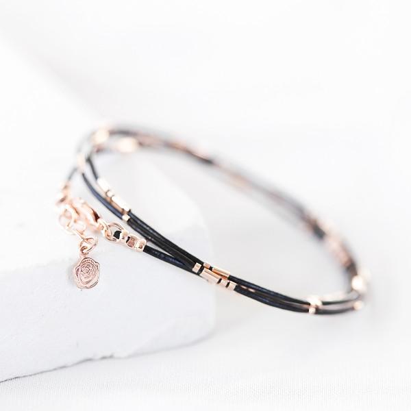 07fd50ae05afd Personalised Ladies' Rose Gold Morse Code Bracelet