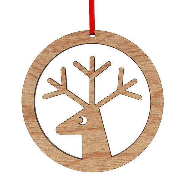 Wood Christmas Decorations.Wooden Reindeer Christmas Decoration