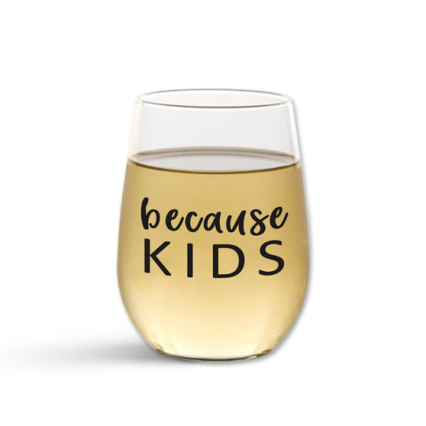 4ae7cd12bc9 Personalised because stemless wine glass | hardtofind.