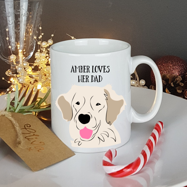 a0a4625730f Personalised Golden Retriever Gift Mug