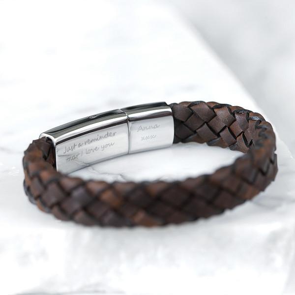 76f0b37c450e7 Personalised men's secret message bracelet