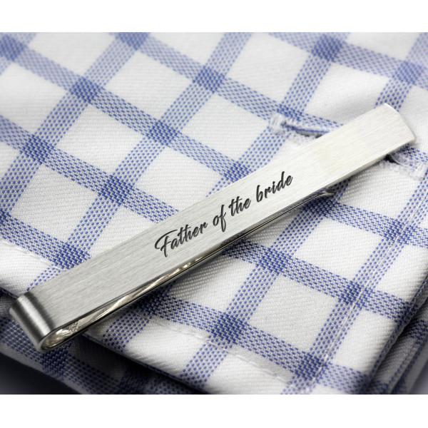 af6a789c22c4 Sterling silver Tie Clip custom engraved   hardtofind.