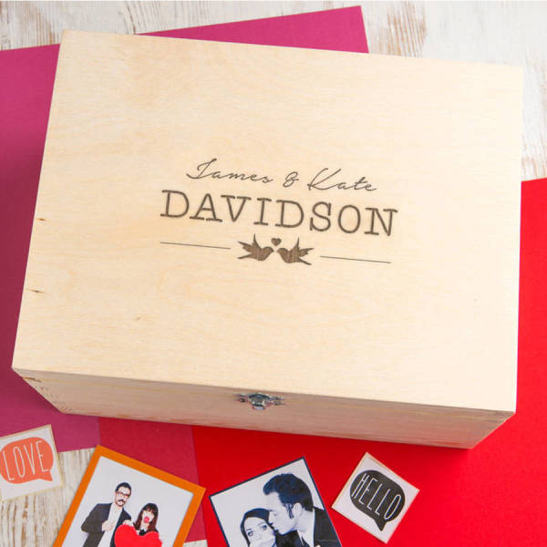 Personalised Images Wedding Keepsake Box