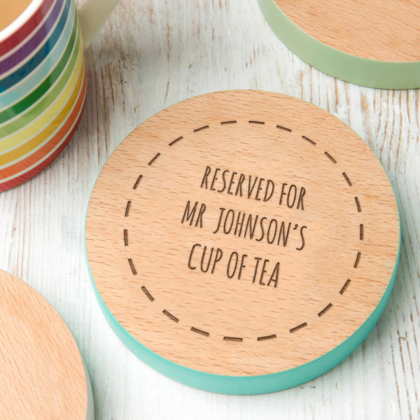 Gifts for Teachers | Personalised Teachers Coaster | Beanstalk Mums