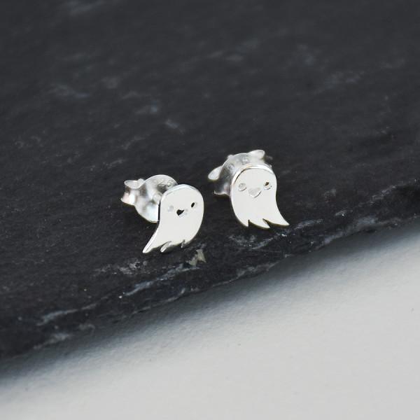 b8c95d4c8 Sterling Silver Ghost Stud Halloween Stud Earrings | hardtofind.