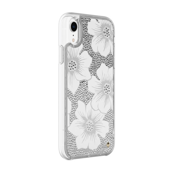 timeless design 74452 444f7 kate spade new york Full Clear Crystal case for iPhone XR in Hollyhock