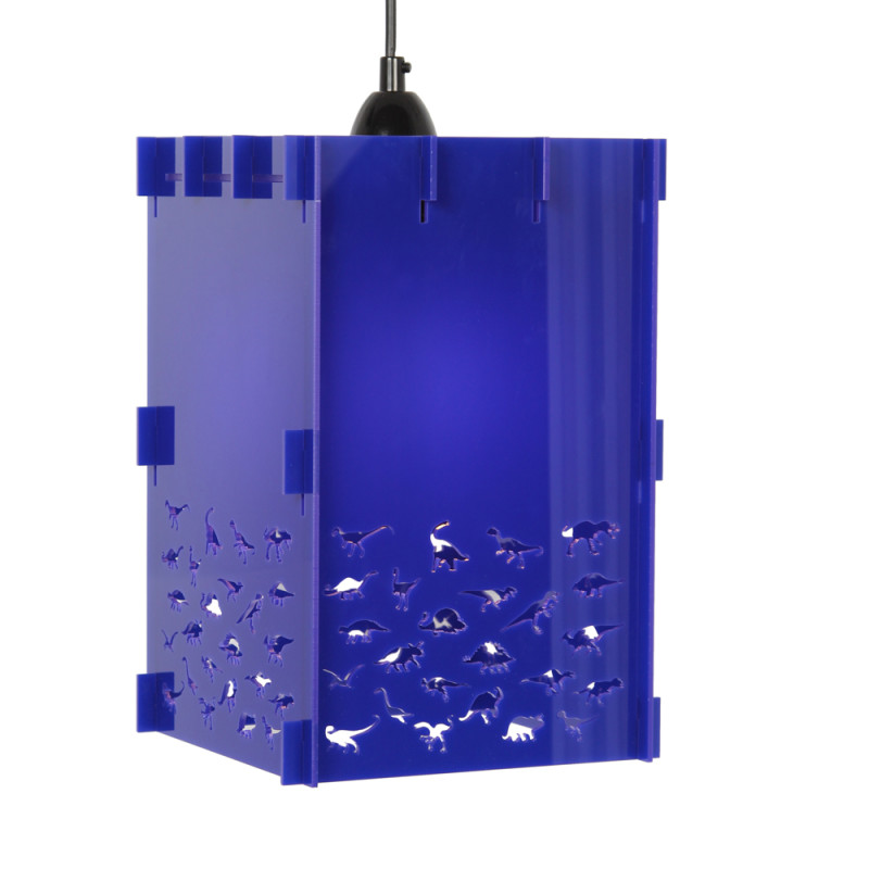 Joy blue dinosaur lamp shade in acrylic hardtofind blue dinosaur lamp shade in acrylic mozeypictures Image collections