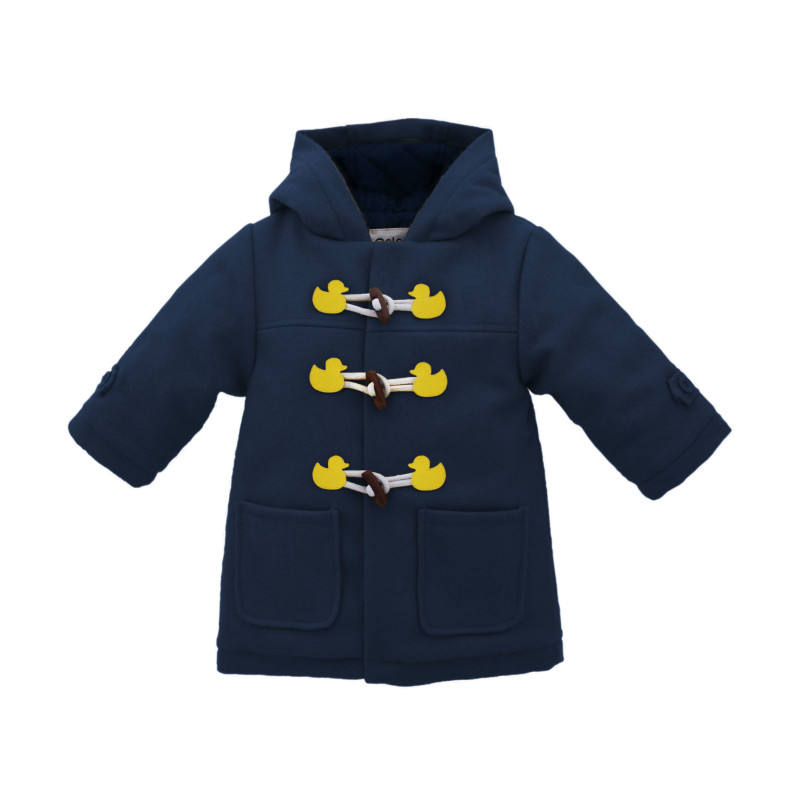 Children's duffle coat in navy | hardtofind.