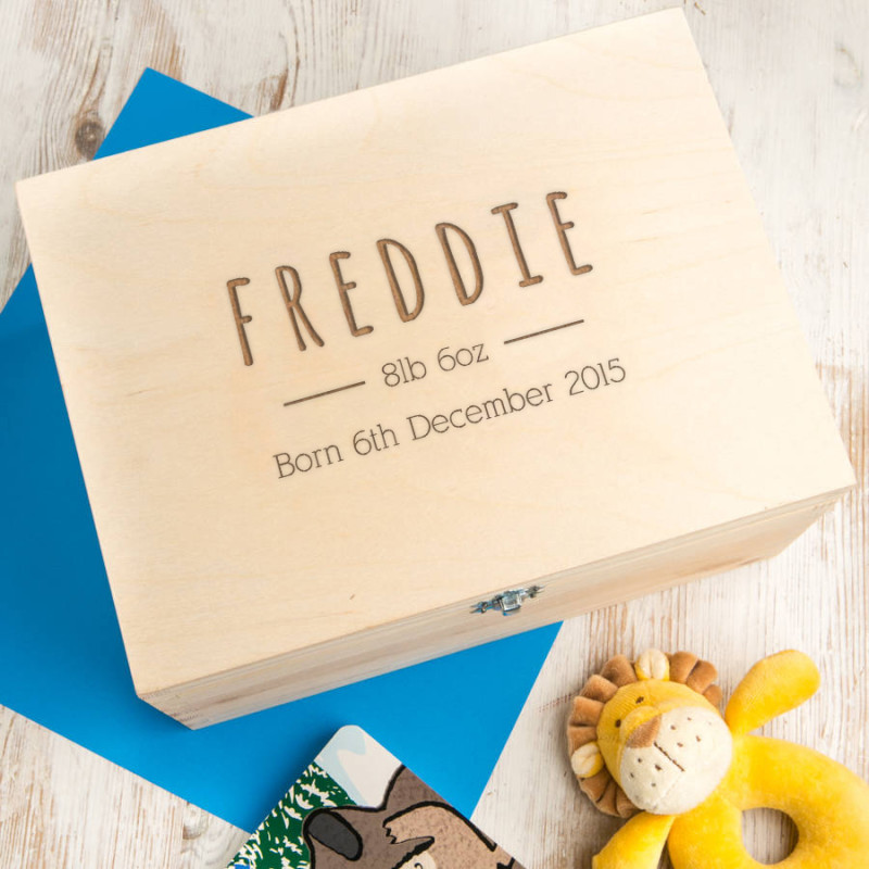Baby gifts baby shower gift ideas baby shower gifts hardtofind personalised baby boy keepsake box negle Images