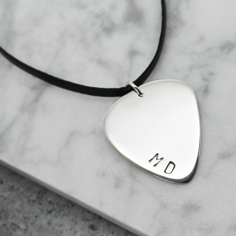 sterling listing hand pick il guitar necklace stamped personalized