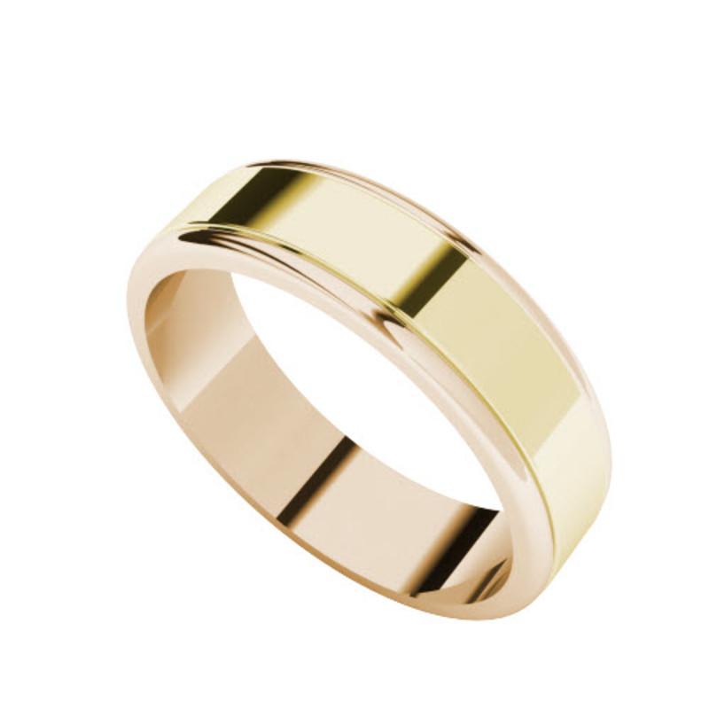 rose yellow gold - Wedding Ring Men
