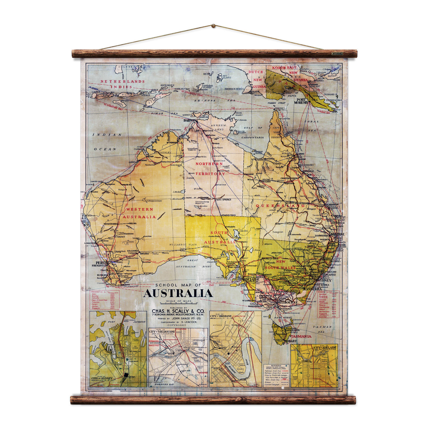 Australia Wall Map.Details About New School Map Of Australia Wall Hanging By Erstwhile