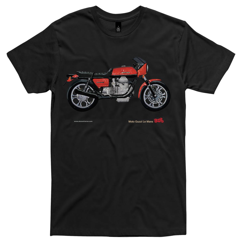Men S Moto Guzzi Le Mans Motorcycle T Shirt Hardtofind