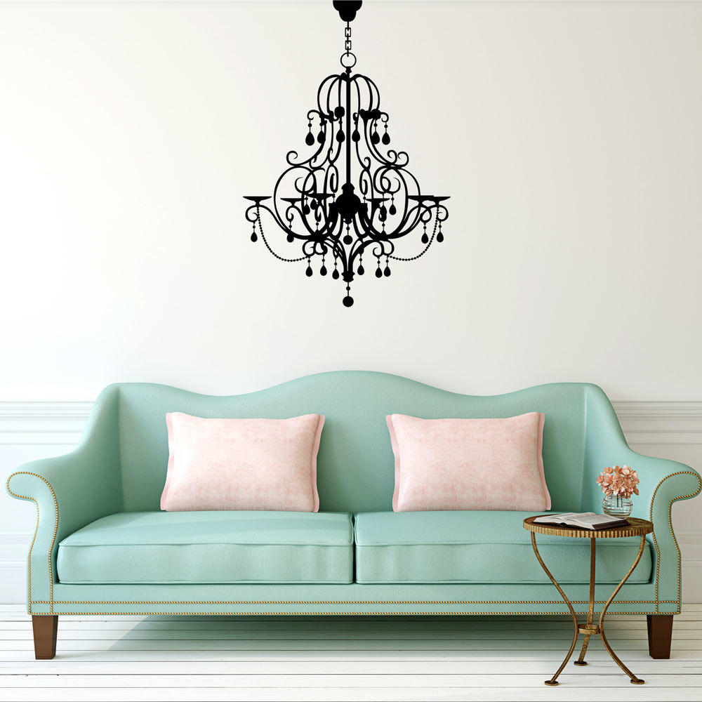 Black chandelier wall decal thejots chandelier wall decal hardtofind lighting ideas mozeypictures Images