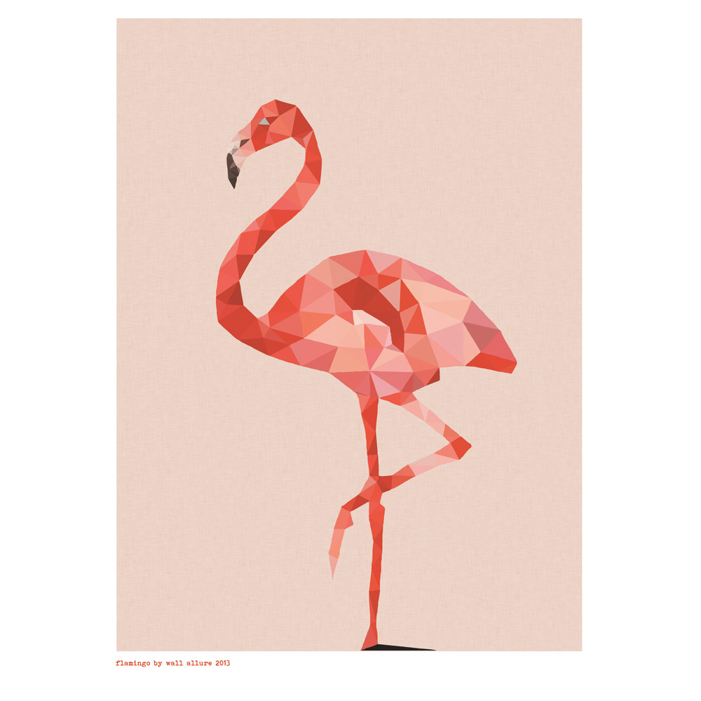 Geometric flamingo art print hardtofind for Print from pinterest