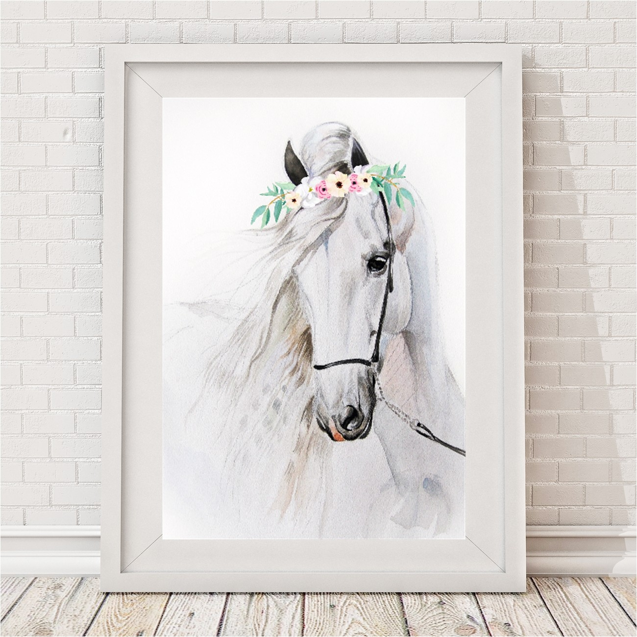 Australian Wall Stickers Watercolour Horse Print Hardtofind