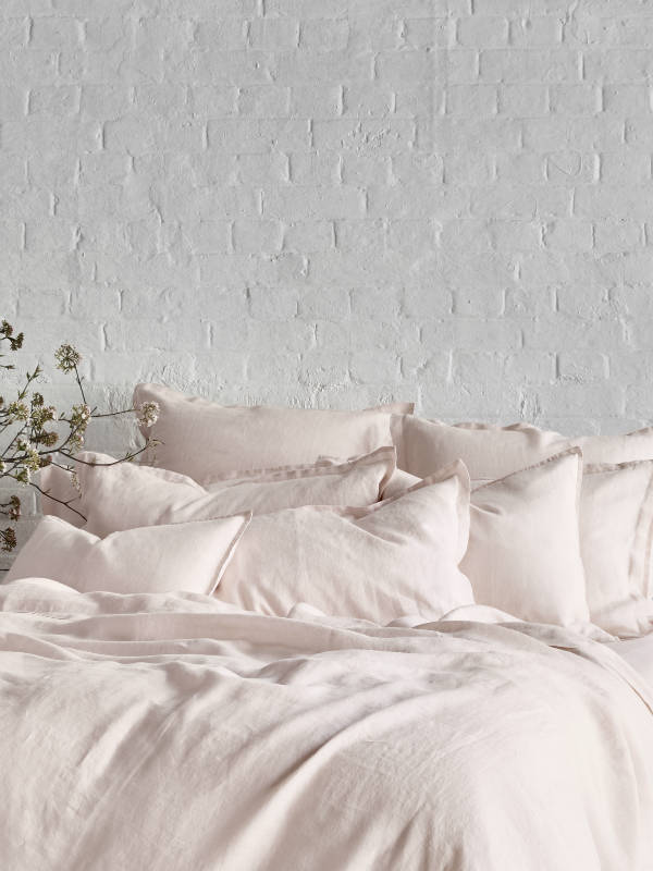 NEW Pure Linen Bed Sheet Set In Peony Pink Womenu0027s By Sheets On The Line