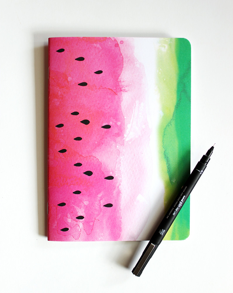Book Cover School Supplies : Watermelon blank notebook hardtofind