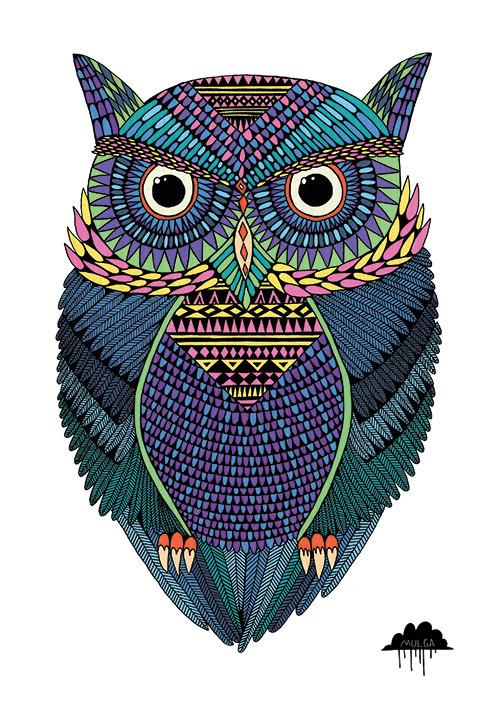 Michael The Magical Owl Art Print Hardtofind