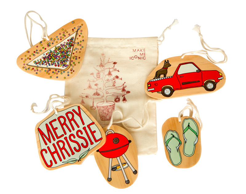 Iconic aussie christmas decorations set of 5 hardtofind for Australian christmas decoration
