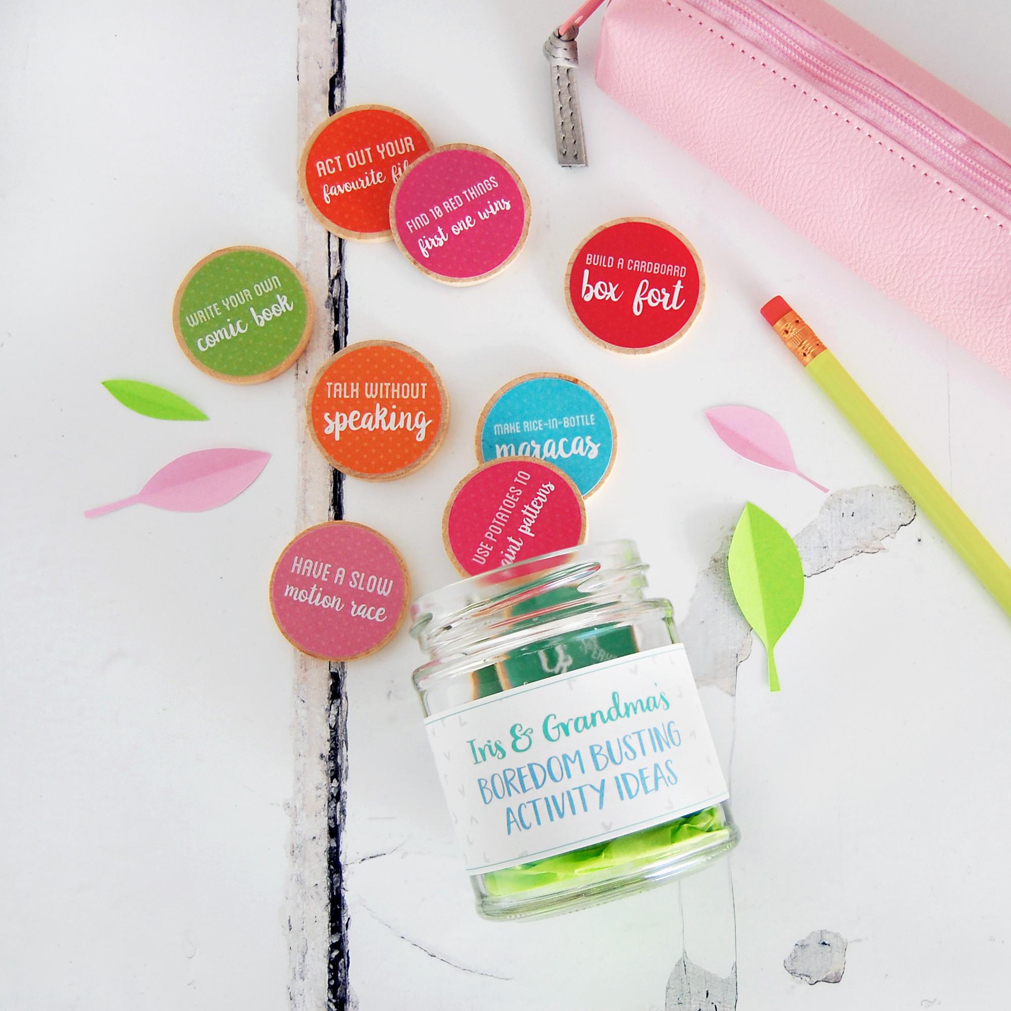 Quirky Wedding Gift Ideas Australia : Personalised Grandma And Me Activity Ideas Jar hardtofind.