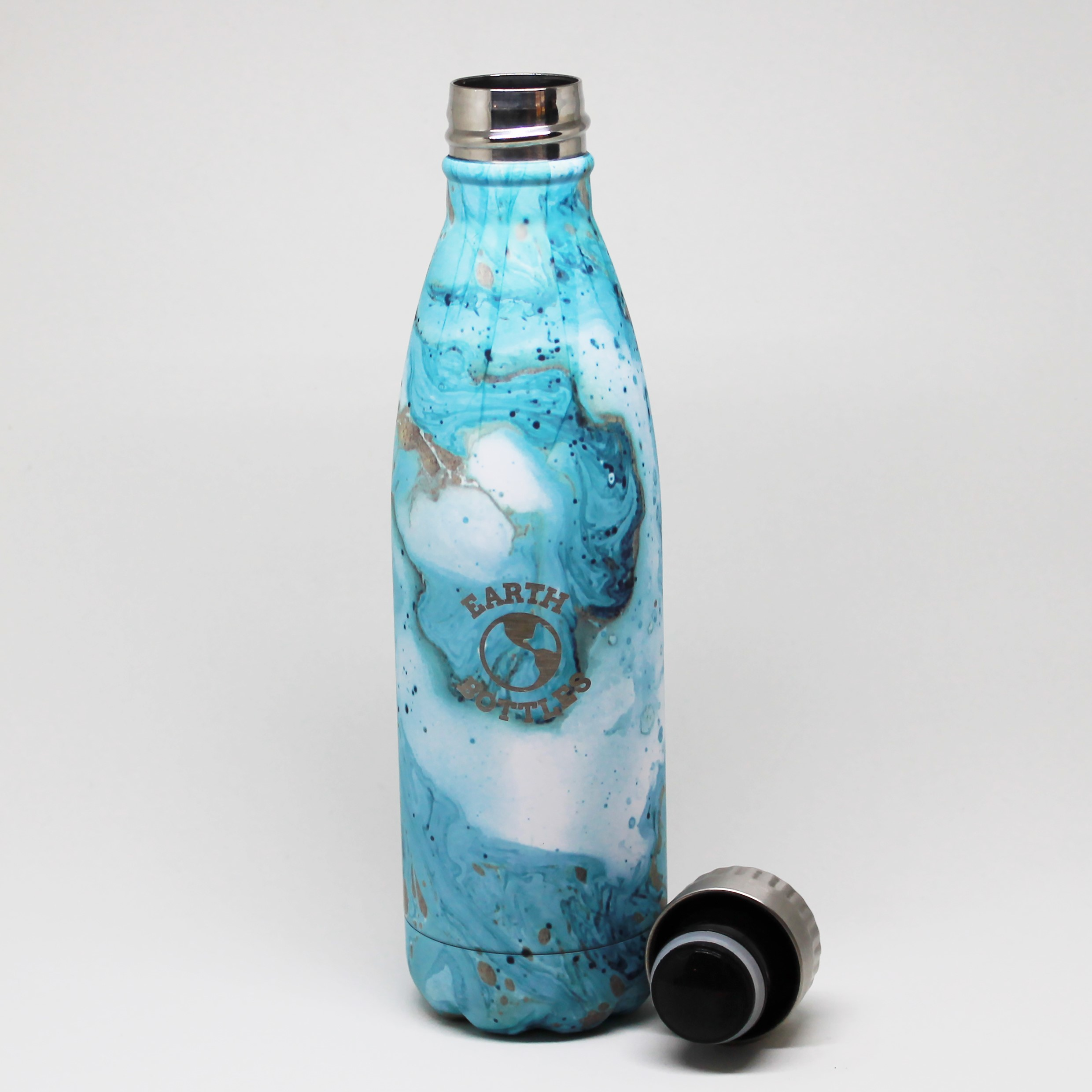 NEW Faux wood double insulated stainless steel water bottle by Earth Bottles Aus