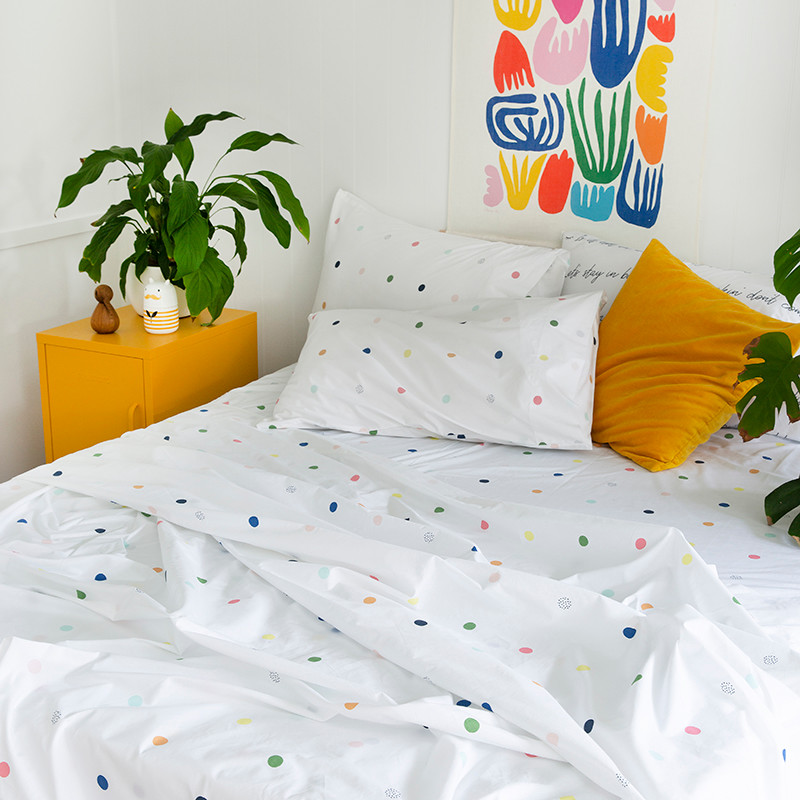 NEW Spot /& Dot fitted Sheet Women/'s by more than ever